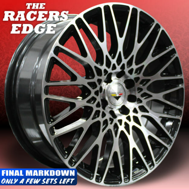 Picture of 15 Inch Mag Wheel -  Vorsteiner Black with Machined Face