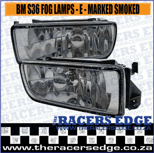 Picture of BM S36 Fog Lamps - Smoked- E- Marked