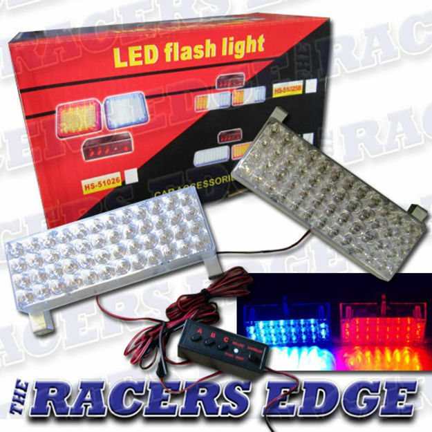 Picture of LED FLASH LITE KIT (STROBE LIGHTS) - BLUE & RED