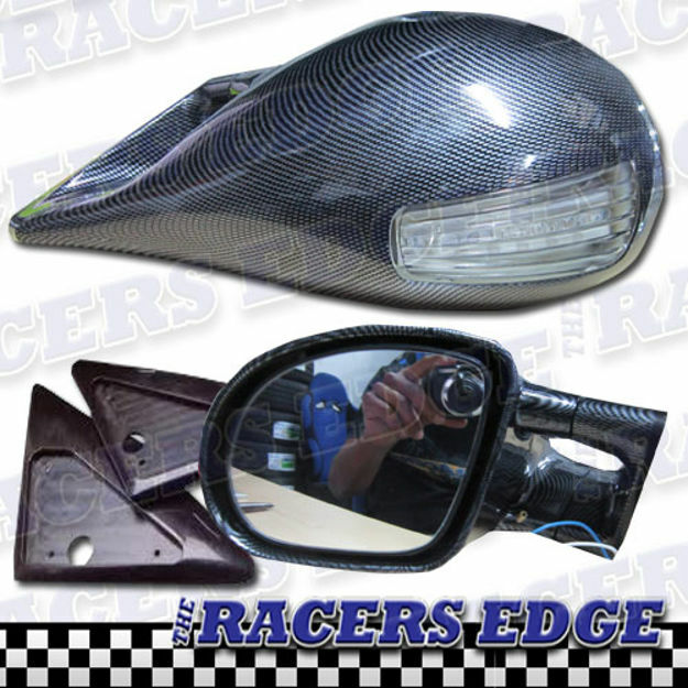 Picture of M3 Style Carbon Fibre Mirror (with LED)