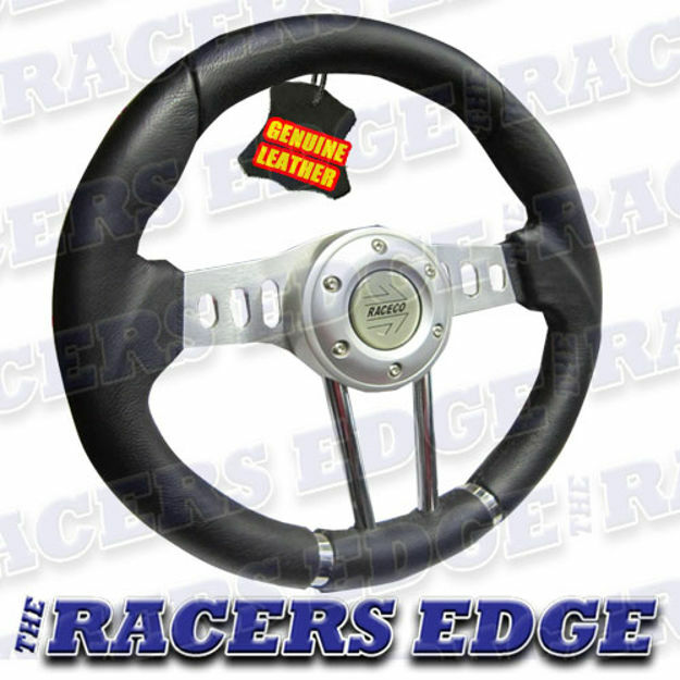 Picture of Sports Steering Wheel - Genuine Leather 04  (2)