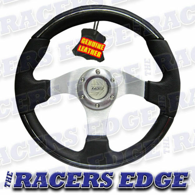 Picture of Sports Steering Wheel - Genuine Leather 05
