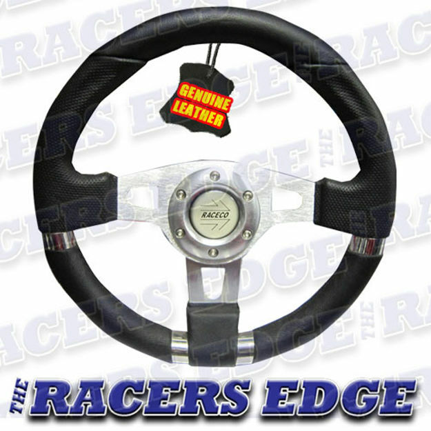 Picture of Sports Steering Wheel - Genuine Leather 08