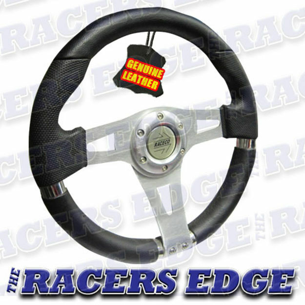 Picture of Sports Steering Wheel - Genuine Leather 09