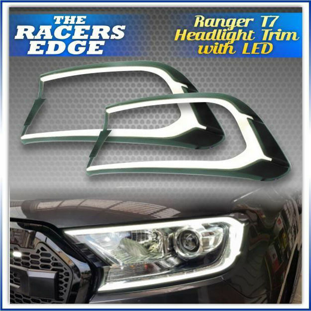 Picture of Ford Ranger T7 Headlight Trim with LED 2015+