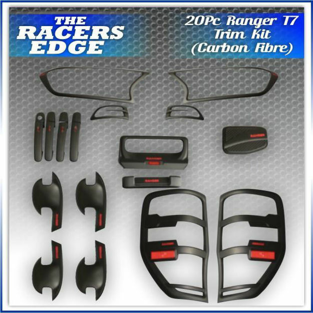 Picture of Ford Ranger T7 20pc Carbon Look Trim Kit