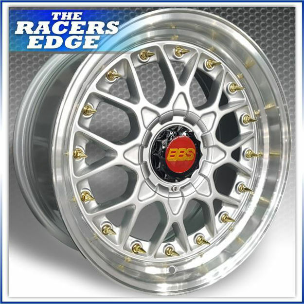 "Picture of 17"" BBS ESA Reps (4x100/108 - Silver with Gold Rivets)"