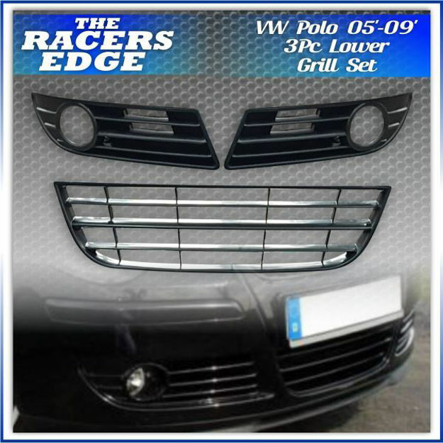 Picture of VW Polo 05'-09' Front Lower Grill Set (3Pc Plastic)