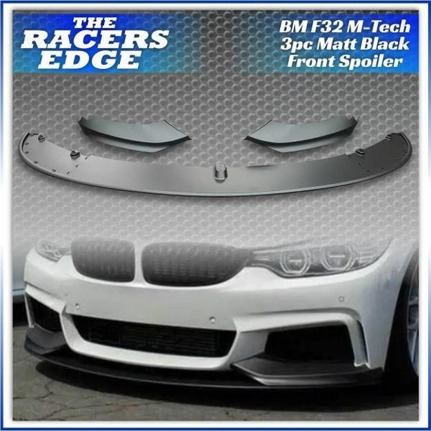 Picture of BM F32 Matt Black 3PC Front Spoiler (M-TECH)