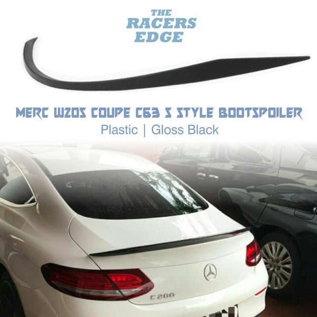 Picture of Merc W205 Coupe C63s Style Bootspoiler - Gloss Black