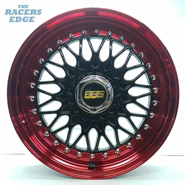 Picture of 15 inch BBS 031 - 4x100/114 - Black Red Lip