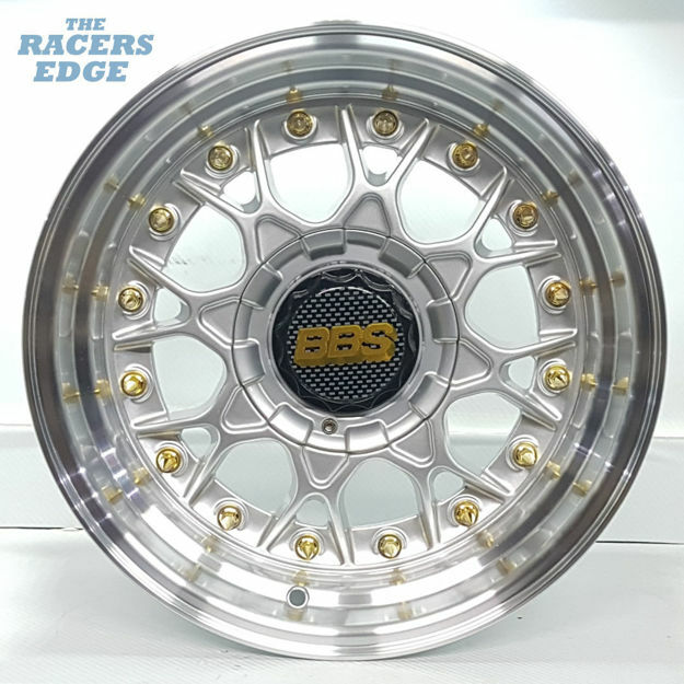 Picture of 15 inch BBS ESA Reps - 4x100/108 - Silver with Gold Studs