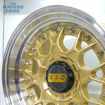 Picture of 15 inch BBS ESA Reps - 4x100/114 - Gold with Chrome Studs