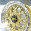 Picture of 17 inch BBS ESA Reps - 4x100/108 - Gold with Chrome Rivets