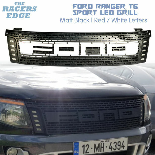 Picture of Ford Ranger T6 Sport LED Grill (2012'-2015) Red/White Letters