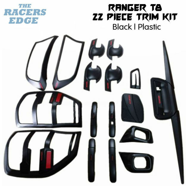 Picture of Ford Ranger T8 22pc Black Trim Kit - 2018+