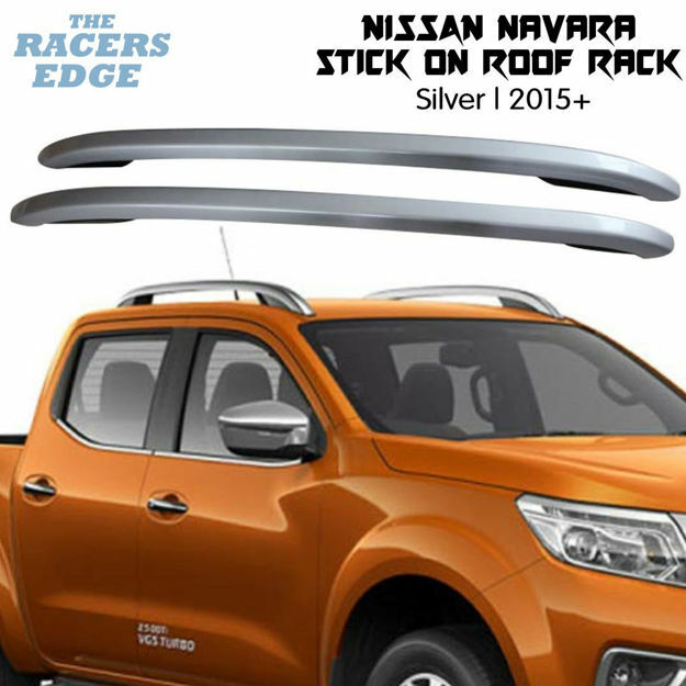 Picture of Nissan Navara Silver Stick on Roof Rack - 2015+