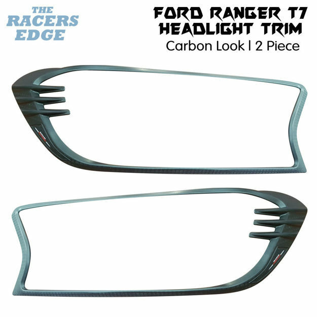 Picture of Ford Ranger T7 Carbon Look Headlight Trim (2016+)