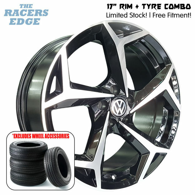 """Picture of 17"""" VW Polo 8 Reps COMBO DEAL - 5x100 - Black"""