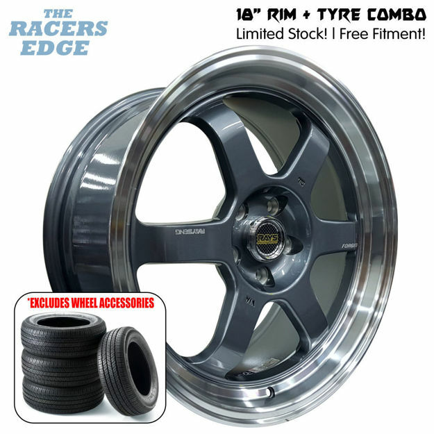 Picture of 18 inch Rays Eng TE37 COMBO DEAL - 5x112 - Gunmetal