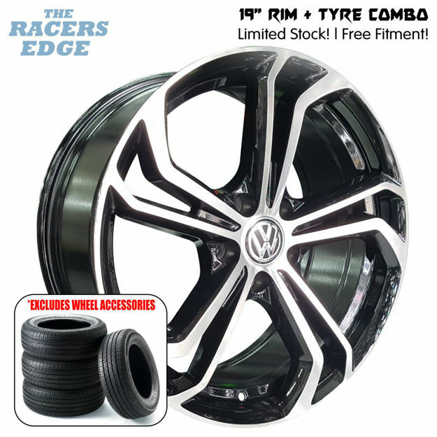 Picture of 19 inch VW GTI TCR Rep COMBO DEAL - 5x112 - Black