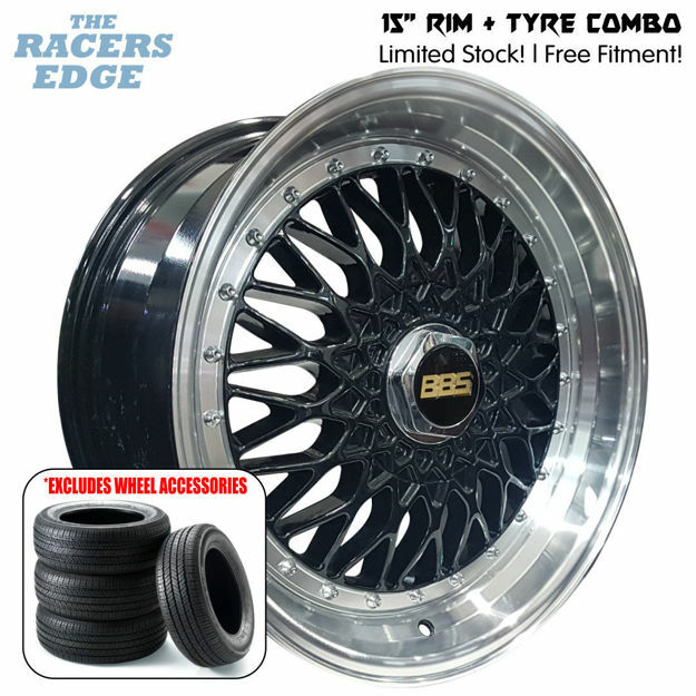 Picture of 15 inch BBS 2 - Step COMBO DEAL - 4x100/108 - Black