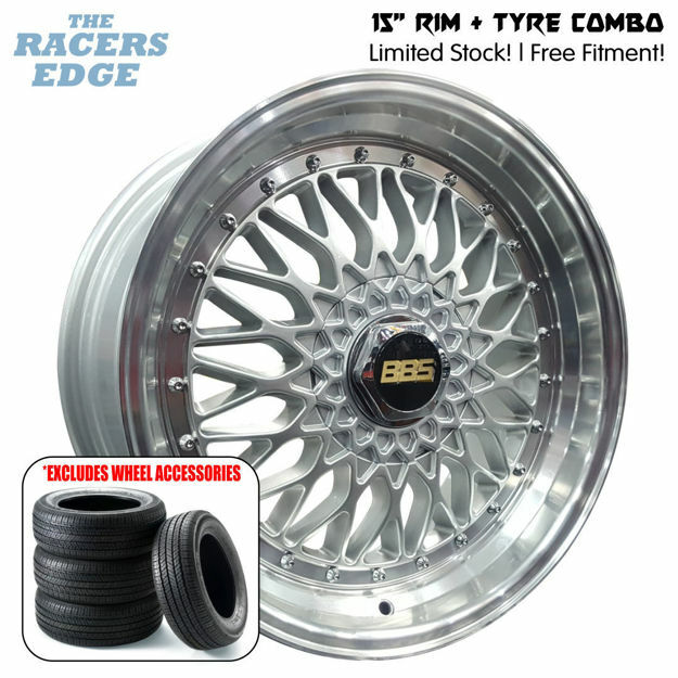 Picture of 15 inch BBS 2 - Step COMBO DEAL - 4x100/114 - Silver