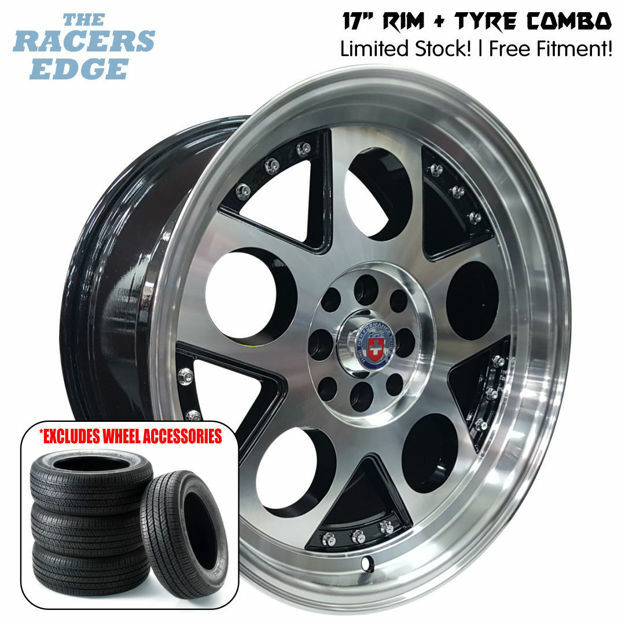 Picture of 17 inch HRE Lambo Reps COMBO DEAL - 4x100/114 - Black