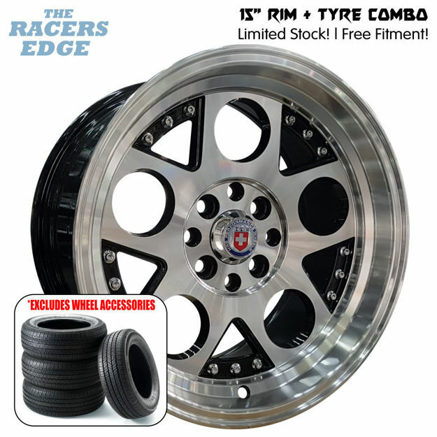 Picture of 15 inch HRE Lambo COMBO DEAL - 4x100/108 - Black