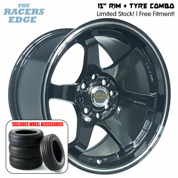 Picture of 15 inch Rays Eng TE37 COMBO DEAL - 4x100/114 - Gloss Black