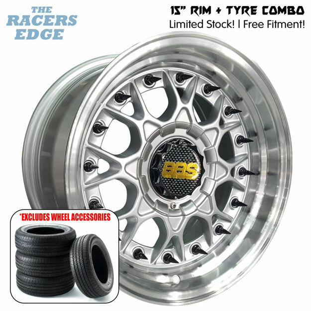 Picture of 15 inch BBS ESA Reps COMBO DEAL - 4x100/114 - Silver with Black Studs