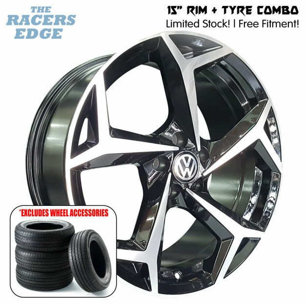 Picture of 15 inch VW Polo 8 Reps COMBO DEAL - 5x100 - Black