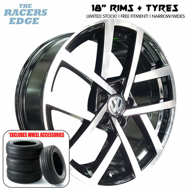Picture of 18 inch Golf R-Performance Rep COMBO DEAL - 5x100 - Black