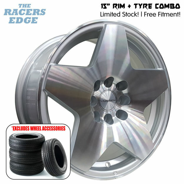 Picture of 15 inch Vossen 5132 COMBO DEAL - 4x100/114 - Silver