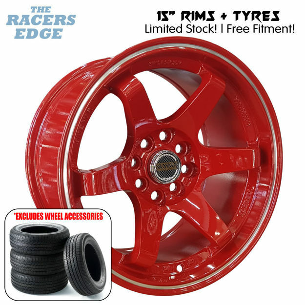 Picture of 15 inch Rays Eng TE37 COMBO DEAL - 4x100/108 - Red