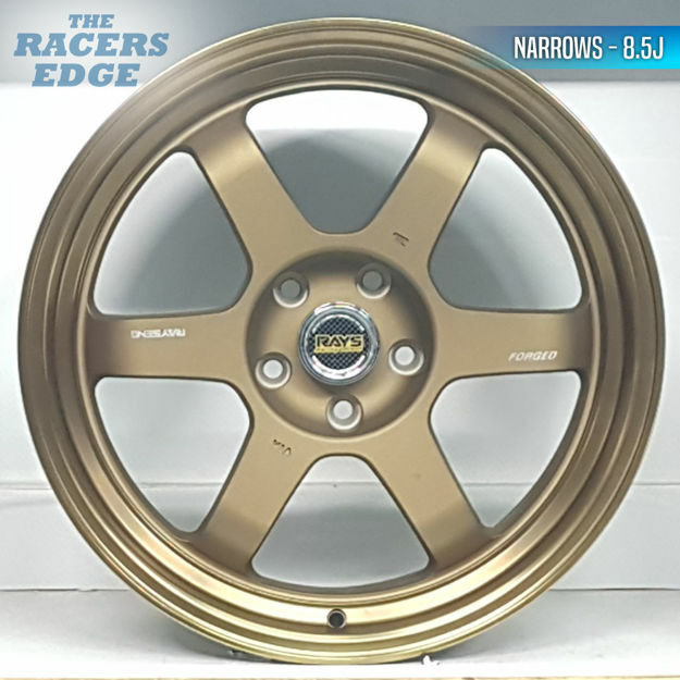 Picture of 19 inch Rays Eng TE37 Narrow/Wides - 5x120 - Narrow/Wides - Bronze
