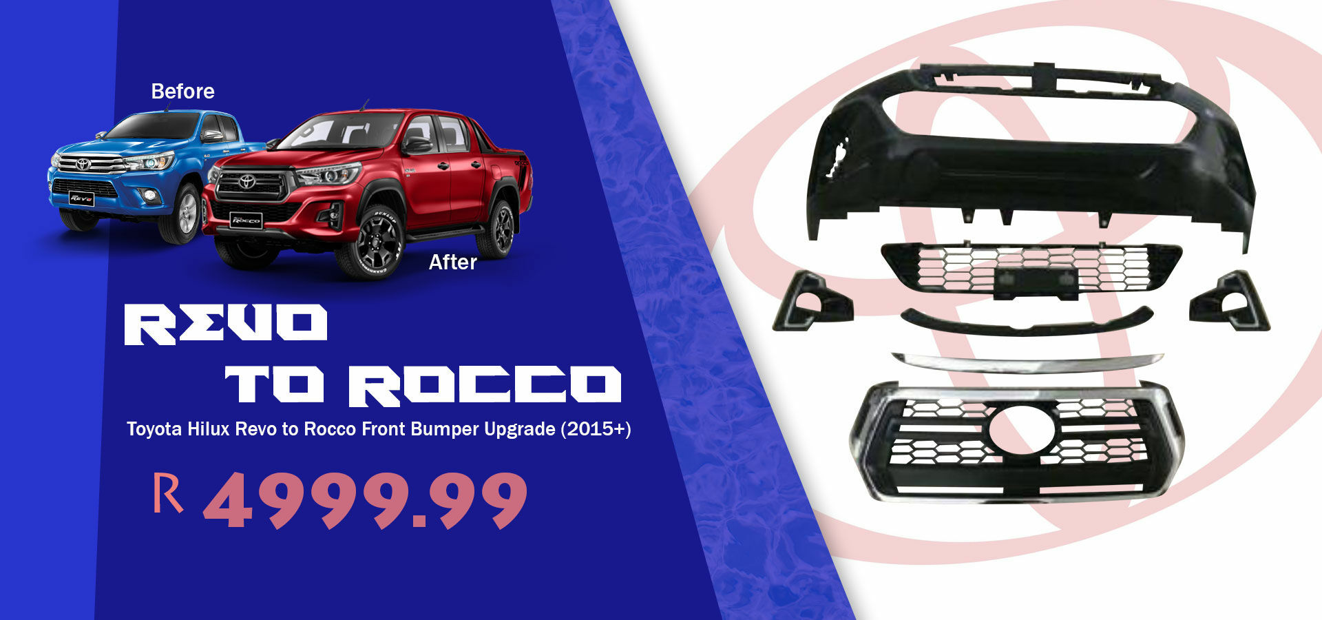 Picture for category Toyota Hilux Revo to Rocco Front Bumper Upgrade (2015+)