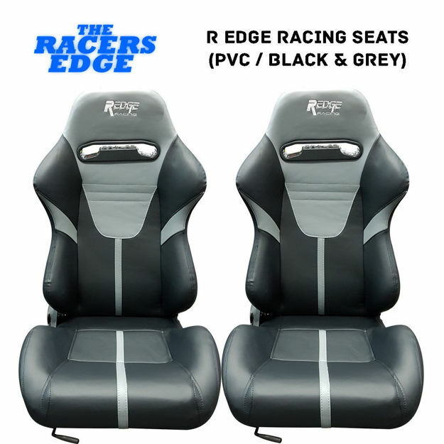 Picture of R Edge Racing Seats (PVC / Black & Grey)