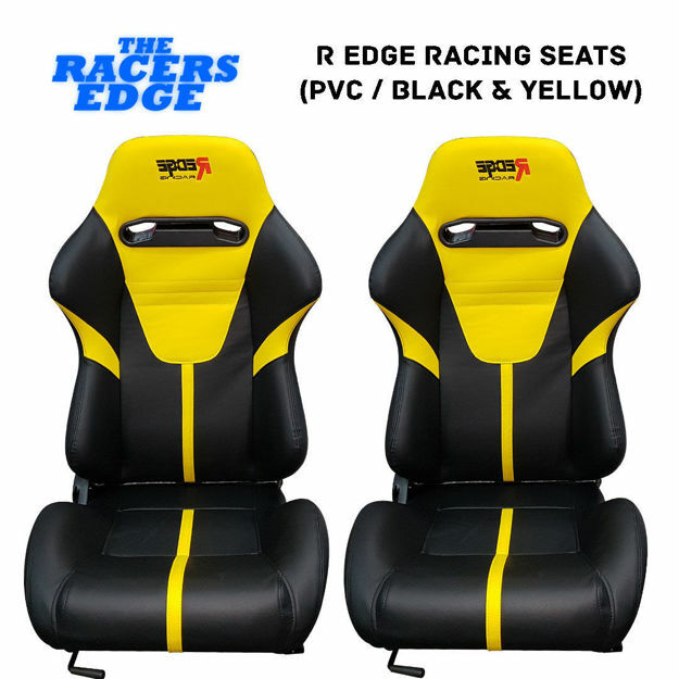 Picture of R Edge Racing Seats (PVC / Black & Yellow)