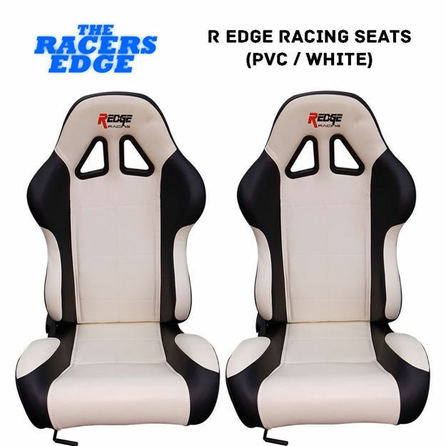 Picture of R Edge Racing Seats (PVC / White)