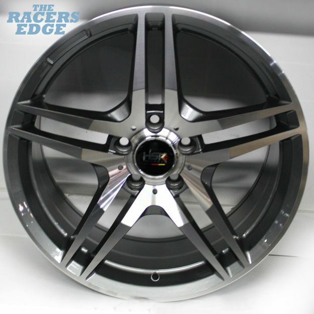 Picture of 18 inch BK197 - 5x112 - Gunmetal Machined Face