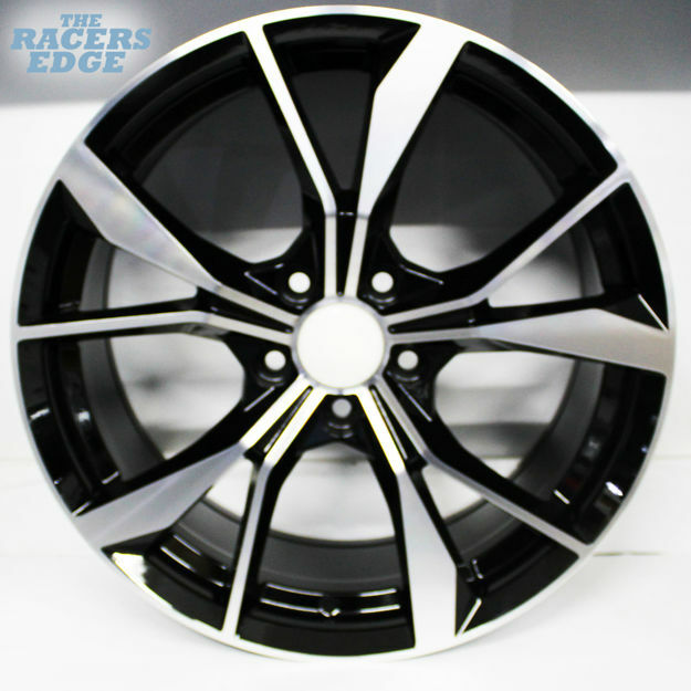 Picture of 18 inch  5808 - 5x112 - Black Machined Face