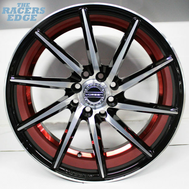Picture of 17 inch QC177 - 4x100/114 - Black with Red Undercut