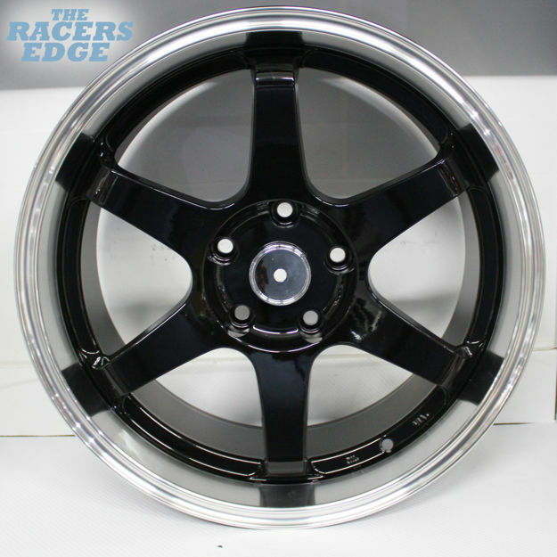 Picture of 18 Inch QC601- 5x108 - Black Machined Lip
