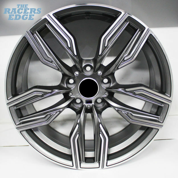 Picture of 19 inch QC5150- 5x120 - Dark Grey Machined Face