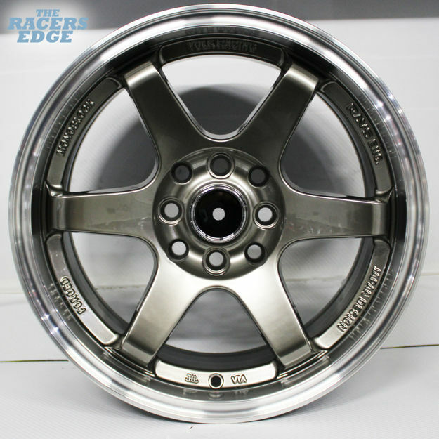 Picture of 15 inch QC601 - 4x100/114 - Hyper Black with Polished Lip