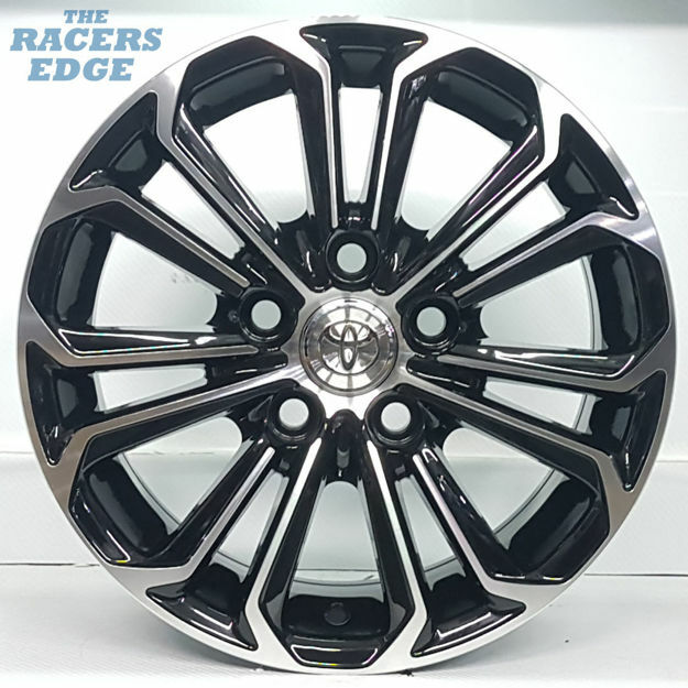 Picture of 15 inch BK667 - 5x114 - Black Machined Face
