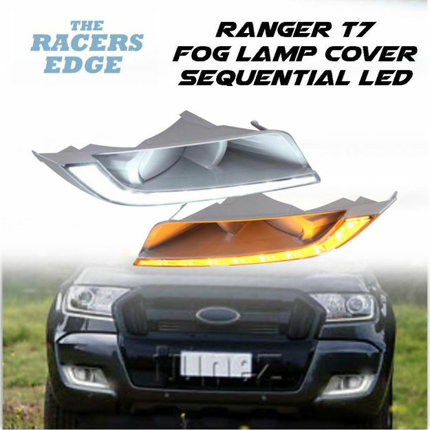 Picture of Ford Ranger T7 Fog Lamp Covers with LED (2015+)